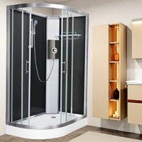 Luxury Electric Shower Cabin Vidalux Pure E RH 1200 x 800 Black Enclosure 9.5kW