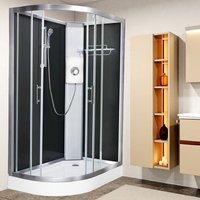 Luxury Electric Shower Cabin Pure E RH 1200 x 800 Black Enclosure 9.5kW - Vidalux