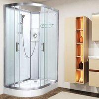 Luxury Electric Shower Cabin Pure E RH 1200 x 800 White Enclosure 8.5kW - Vidalux
