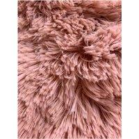 Luxury Fur Blush Double Duvet Cover Set Bedding Bed Set
