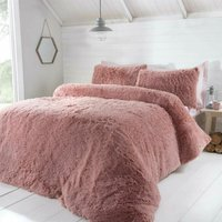 Luxury Fur Blush Single Duvet Cover Set Bedding Bed Set