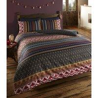 Luxury Indian Ethnic Print Super King Bed Duvet Quilt Cover Bedding Set Orkney Multi