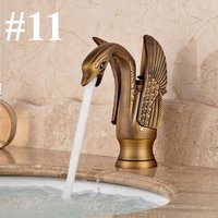 Luxury Or Swan Bathroom Basin Mixer Faucet Single Lever Tap Hot Cold Spout 1 Hasaki - KINGSO