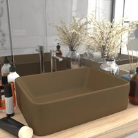 Luxury Wash Basin Matt Cream 41x30x12 cm Ceramic - Cream
