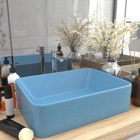 Luxury Wash Basin Matt Light Blue 41x30x12 cm Ceramic - Blue