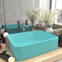 Luxury Wash Basin Matt Light Green 41x30x12 cm Ceramic - Green