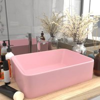 Luxury Wash Basin Matt Pink 41x30x12 cm Ceramic - VIDAXL