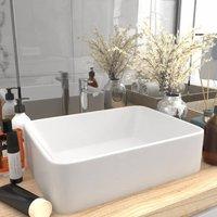Luxury Wash Basin Matt White 41x30x12 cm Ceramic