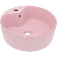 Luxury Wash Basin with Overflow Matt Pink 36x13 cm Ceramic - VIDAXL