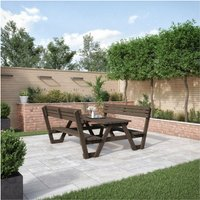 Lyddington Picnic Bench 6ft - Rustic Brown