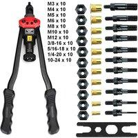M3-M12 Riveting Tool Set Nut Riveting Kits Rivet Nut Insertion Accessories
