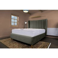 Madeleine Asphalt Malia Double Bed Frame