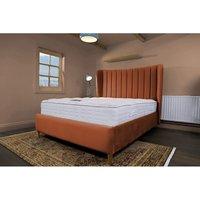 Madeleine Burnt Orange Malia Double Bed Frame