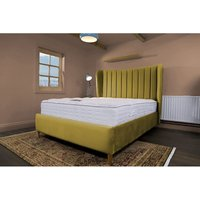 Madeleine Mustard Malia Double Bed Frame