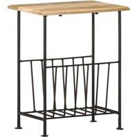 Vidaxl - Magazine Rack 40x30x50 cm Solid Mango Wood and Steel