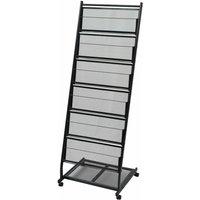 Zqyrlar - Magazine Rack 47.5x43x133 cm Black A4 - Black