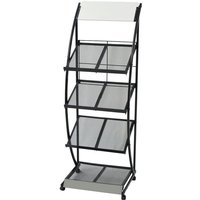 Zqyrlar - Magazine Rack 47x40x134 cm Black and White A4 - Black