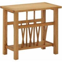 Magazine Table 45x27x42 cm Solid Oak Wood - Brown - ZQYRLAR