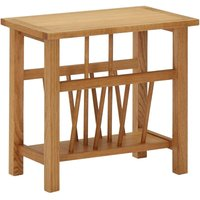 vidaXL Magazine Table 45x27x42 cm Solid Oak Wood - Brown