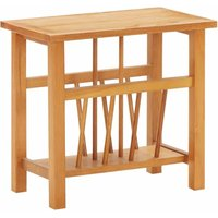 Asupermall - Magazine Table 45x27x42 cm Solid Oak Wood and MDF