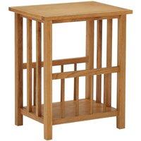 Magazine Table 45x35x55 cm Solid Oak Wood - Brown - Vidaxl