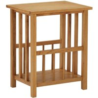 Youthup - Magazine Table 45x35x55 cm Solid Oak Wood and MDF