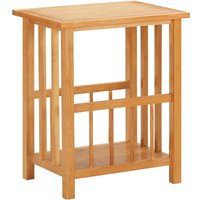 Asupermall - Magazine Table 45x35x55 cm Solid Oak Wood and MDF