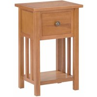 Asupermall - Magazine Table with Drawer 35x27x55 cm Solid Oak Wood