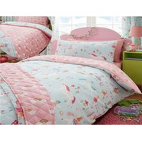 Bedmaker - Magical Unicorns Childrens Single Duvet Cover Set Bedding Blue Girls Bedroom
