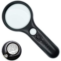 Magnifier with 3X 45X Light, Illuminated Reading Magnifier, Magnifier with 3 LED, High Clarity and Lightweight Pocket Magnifier for Seniors,