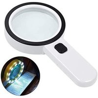 Magnifying Glass with Light Reading Magnifier, White