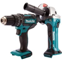 Makita 18V 2 Speed Combi Drill and Cordless 115mm Angle Grinder T4TKIT-471