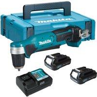 Makita DA333DWAJ 12v Max Lithium Cordless CXT Angle Drill Driver -2 X Batteries