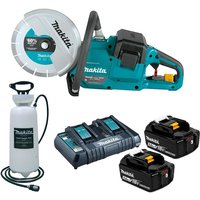 Makita DCE090ZT2X1 18v / 36v 9 Brushless Power Disc Cutter Saw 2 x 5.0ah+ Water