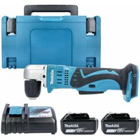 Makita DDA351 18V LXT 10mm Angle Drill With 2 x 6.0Ah Batteries, Charger and Case