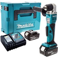 Makita DDA351Z 18V Angle Drill with 2 x 4.0Ah Battery and Charger in Case:18V