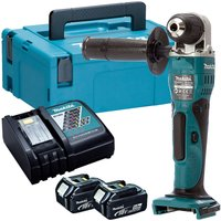 Makita DDA351Z 18V LXT Angle Drill with 2 x 5.0Ah Batteries and Charger in Case:18V