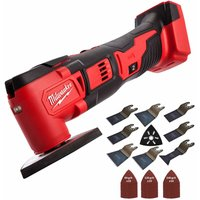 Milwaukee M18BMT-0 M18 18V Compact Multi Tool Cutter with 39 Piece Accessories Set