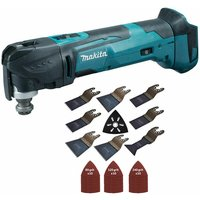 Makita DTM51Z 18V Oscillating Multi Tool Cutter with 39 Piece Accessories Set:18V