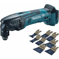 Makita DTM50Z 18V Oscillating Multi Tool Cutter with 8 Piece Accessories Set