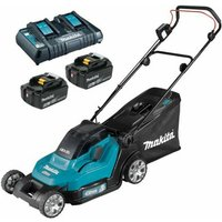 Makita DLM432PG2 Twin 18v / 36v LXT Cordless Lawnmower 2 x 6Ah Batteries and Charger