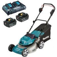 DLM460Z 18v / 36v LXT Cordless Lawn Mower 2 x 6.0ah Battery + Charger - Makita