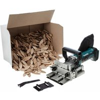 Makita DPJ180Z 18v LXT Cordless Biscuit Jointer 100mm Dowel Joint Bare +Biscuits