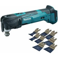 Makita DTM51Z 18V Oscillating Multi Tool Cutter with 8 Piece Accessories Set:18V