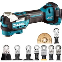 Makita DTM52Z 18V Brushless Multi Tool with Starlock 9 Piece Accessories Set