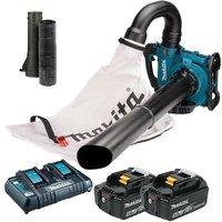 Makita DUB363PT2V Twin LXT 18v / 36v Brushless Leaf Blower Mulcher Vacuum 2x 5.0
