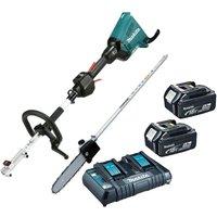 Makita DUX60PT2 Brushless 18v / 36v Cordless Split Shaft Multi Tool and Chainsaw