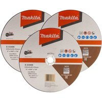 E-03006 Cutting Cut Off Wheel 230mm 9 For DCE090 Disc Cutter x 3 Pack - Makita
