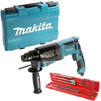 Makita HR2630 SDS Rotary Hammer Drill 3 Mode 26mm 240V With 12 Piece SDS Drill Bit