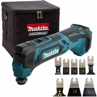 Makita TM30DZ 10.8V CXT MultiTool with 8 Piece Accessories Set and Cube Tool Bag:18V